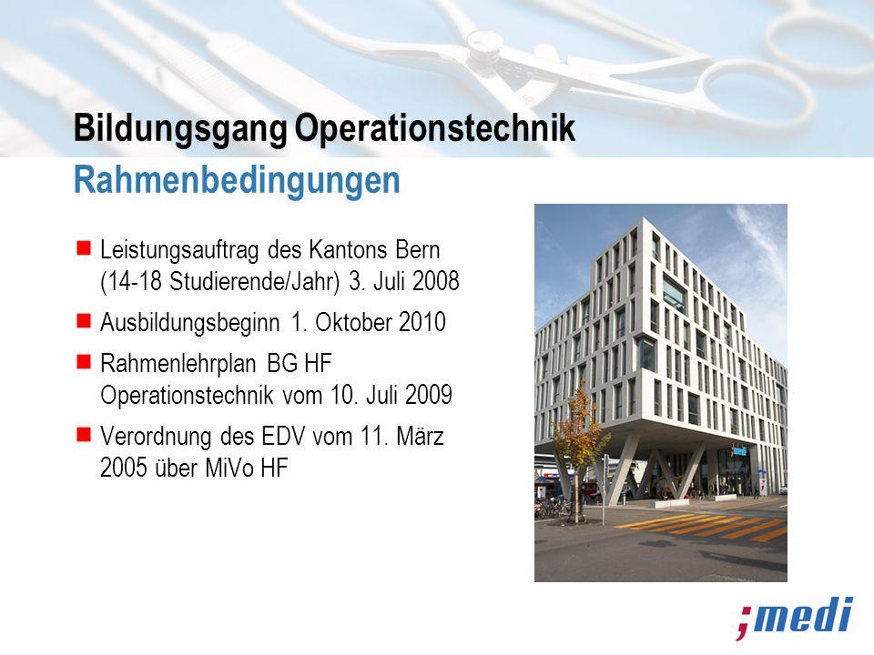 Bildungsgang Operationstechnik Rahmenbedingungen