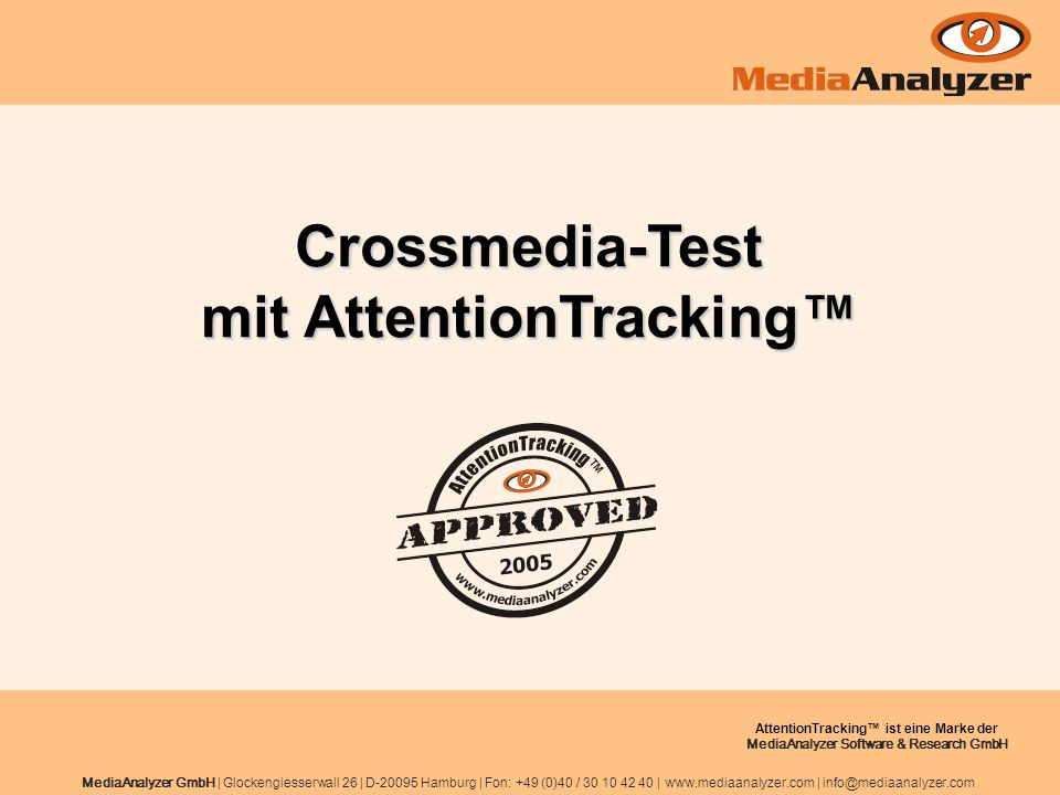 Crossmedia-Test mit AttentionTracking™