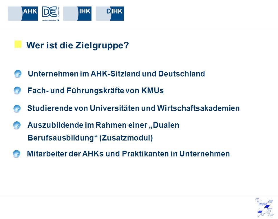 Wer ist die Zielgruppe Unternehmen im AHK-Sitzland und Deutschland