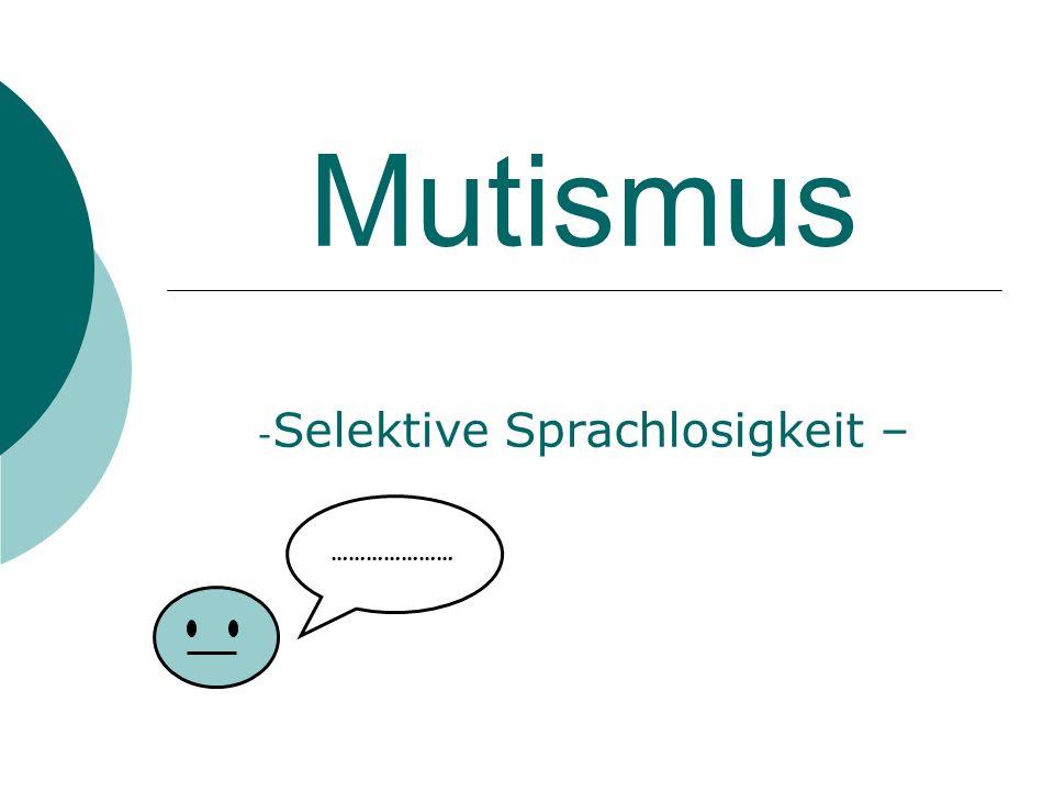 Selektive Sprachlosigkeit –