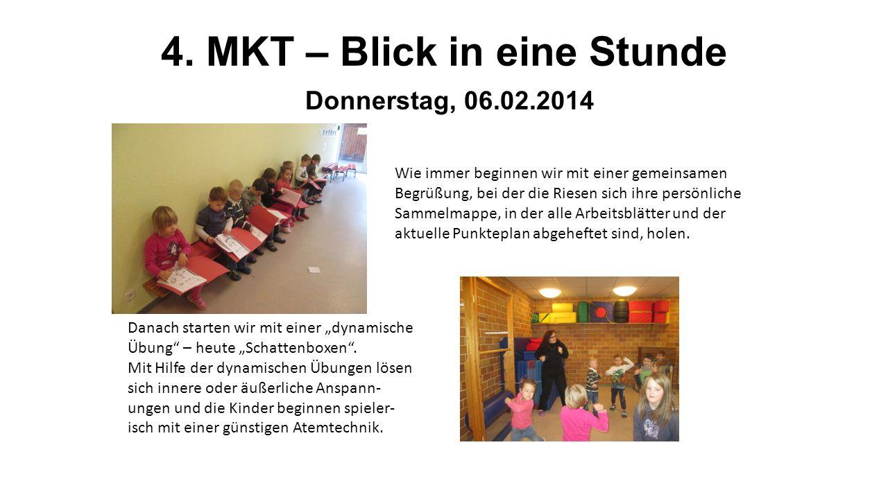 4. MKT – Blick in eine Stunde Donnerstag, 06.02.2014
