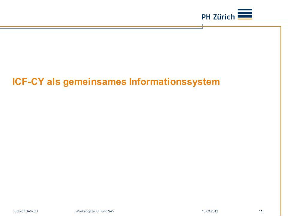 ICF-CY als gemeinsames Informationssystem