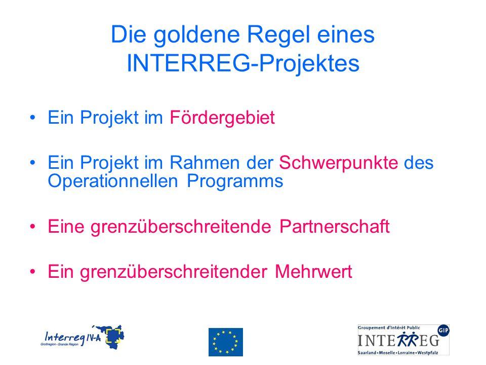 Die goldene Regel eines INTERREG-Projektes