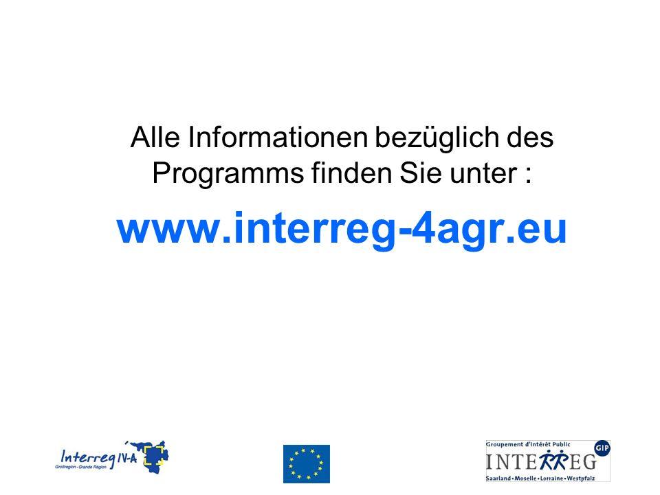 Alle Informationen bezüglich des Programms finden Sie unter :
