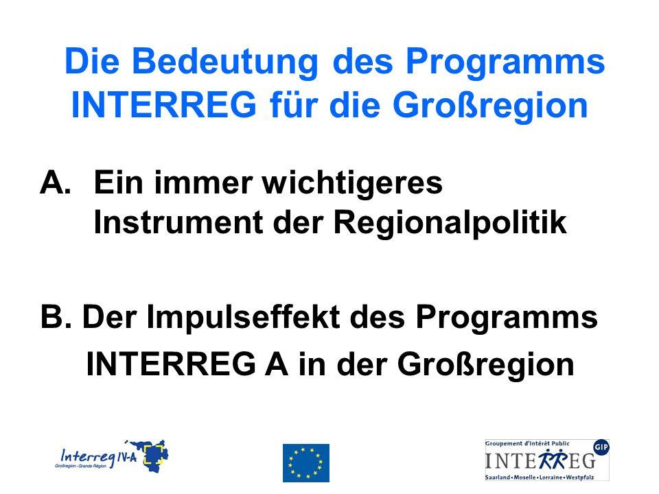 Die Bedeutung des Programms INTERREG für die Großregion