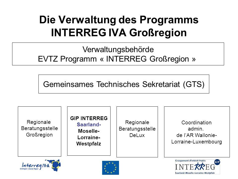 Die Verwaltung des Programms INTERREG IVA Großregion