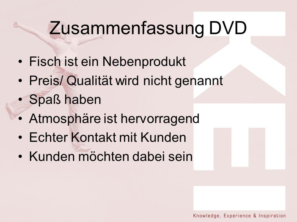 Zusammenfassung DVD Fisch ist ein Nebenprodukt