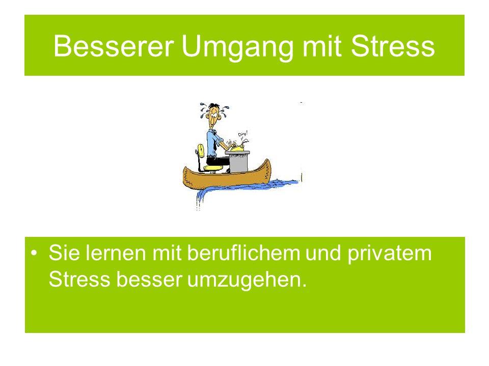 Besserer Umgang mit Stress