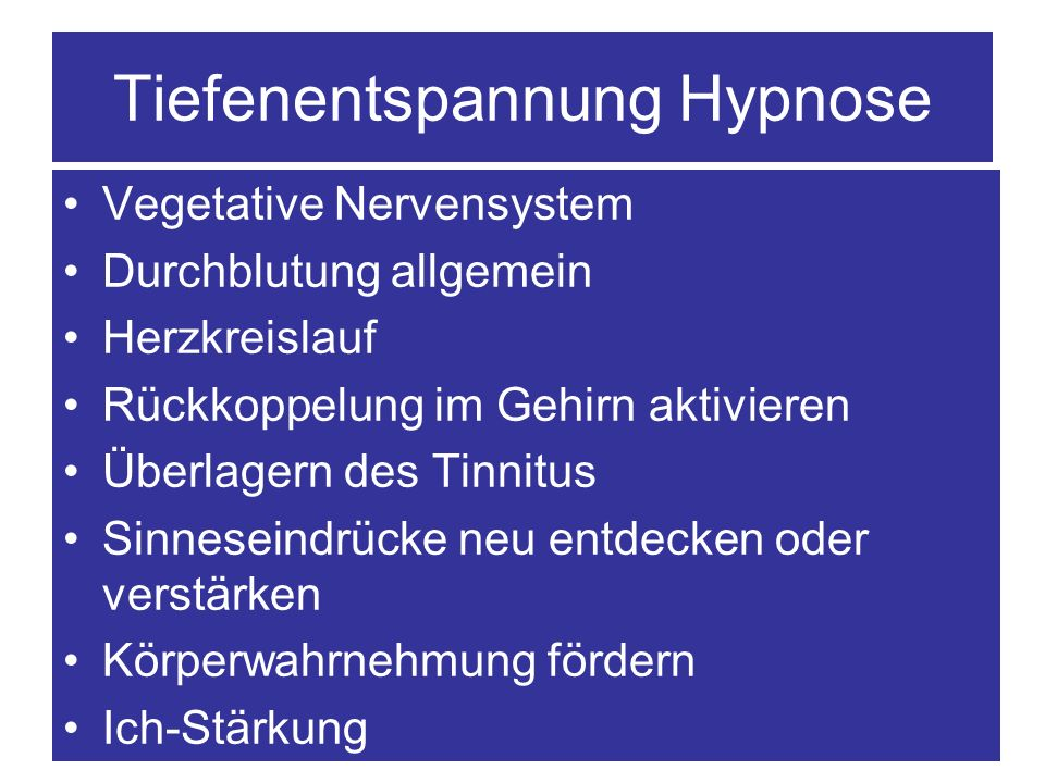 Tiefenentspannung Hypnose