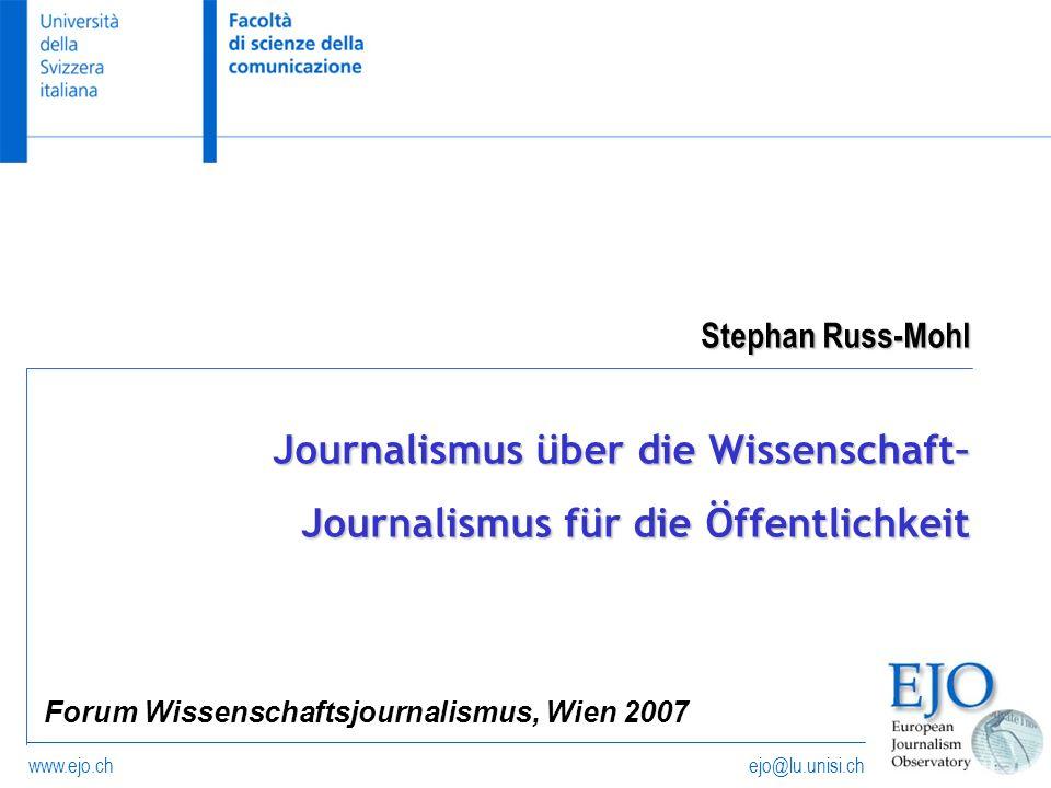 Forum Wissenschaftsjournalismus, Wien 2007