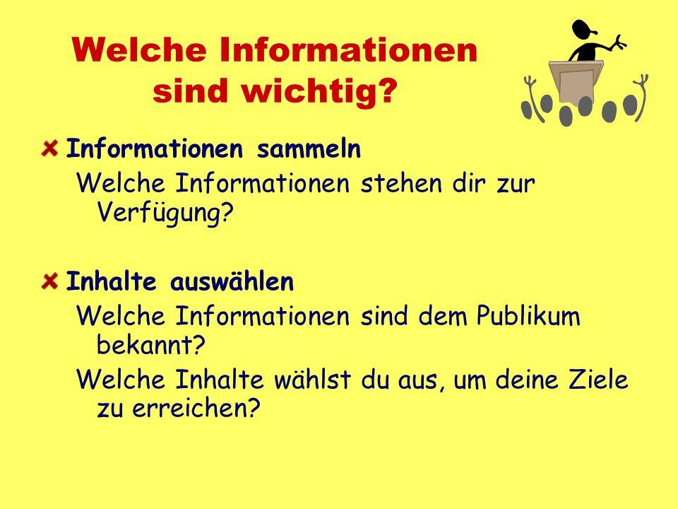 Welche Informationen sind wichtig