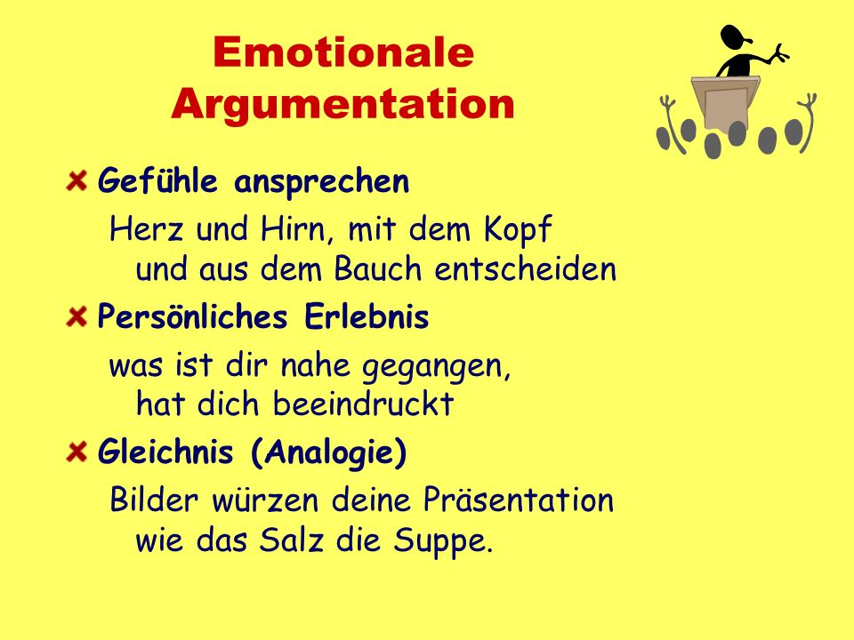 Emotionale Argumentation