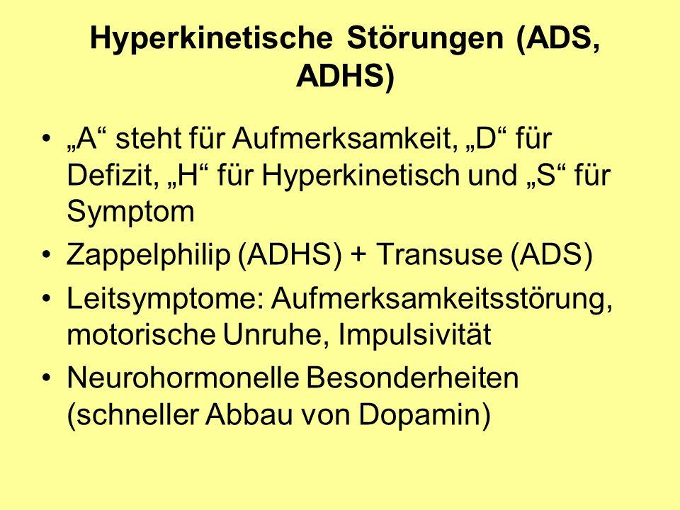 Hyperkinetische Störungen (ADS, ADHS)