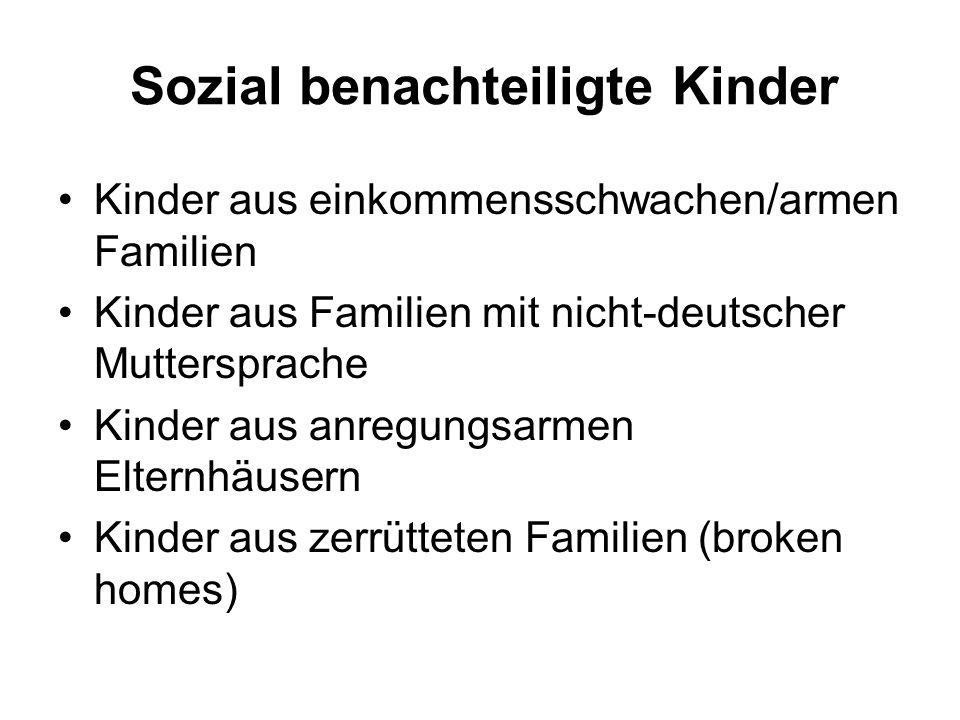 Sozial benachteiligte Kinder