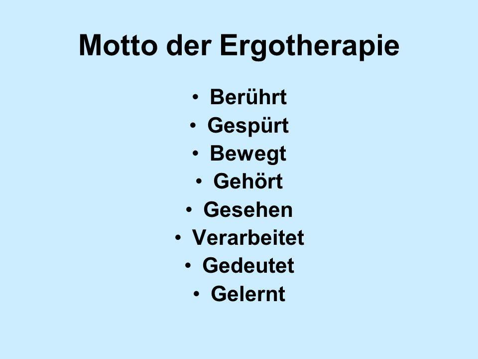 Motto der Ergotherapie