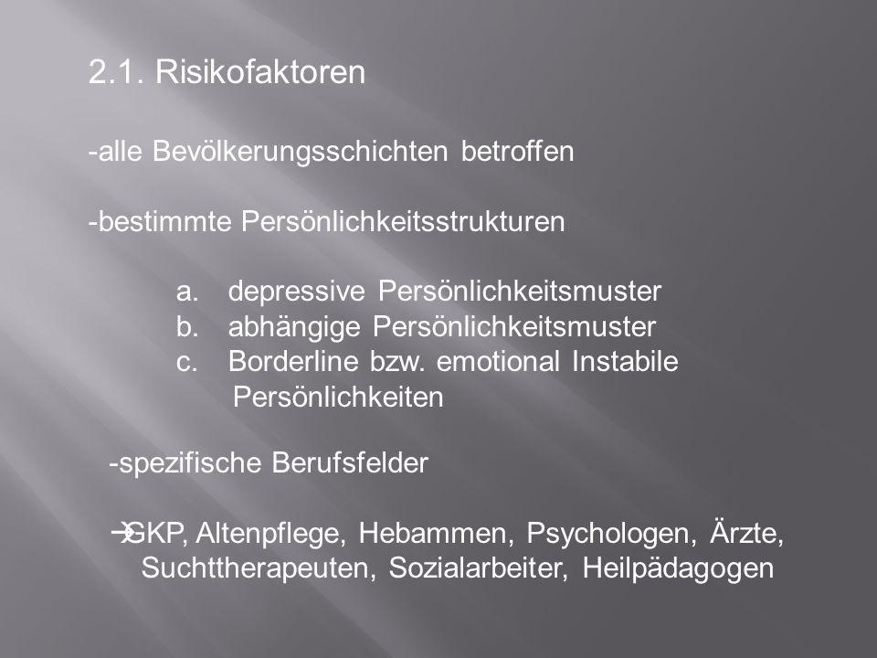 2.1. Risikofaktoren alle Bevölkerungsschichten betroffen