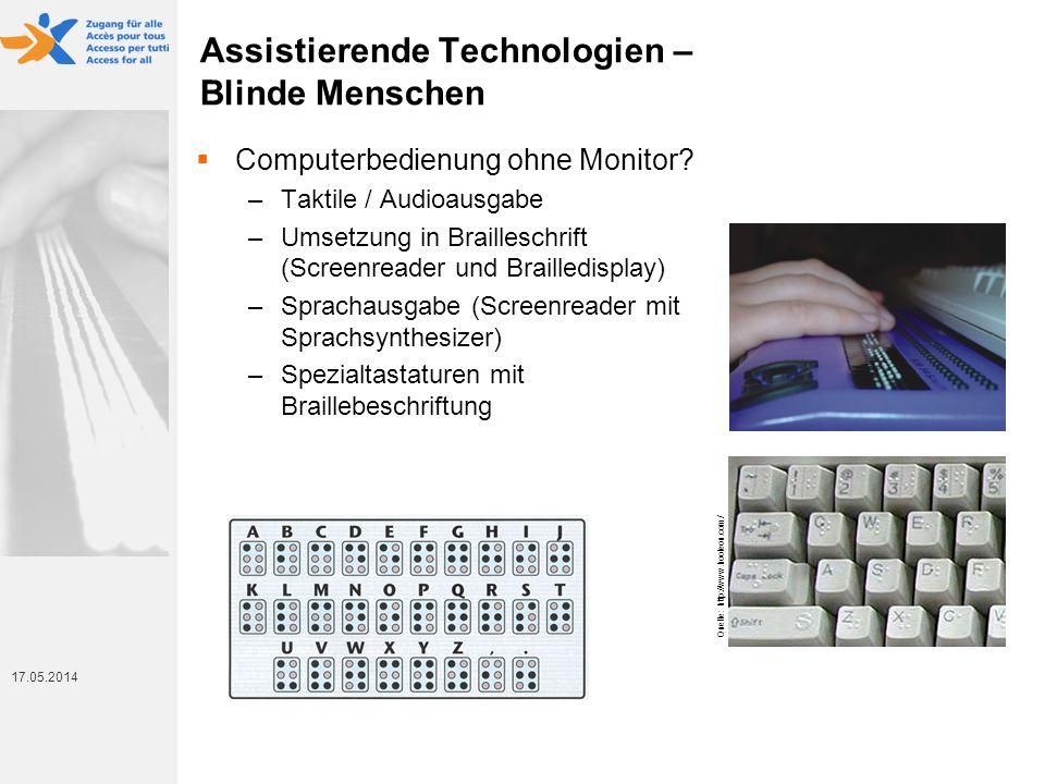 Assistierende Technologien – Blinde Menschen