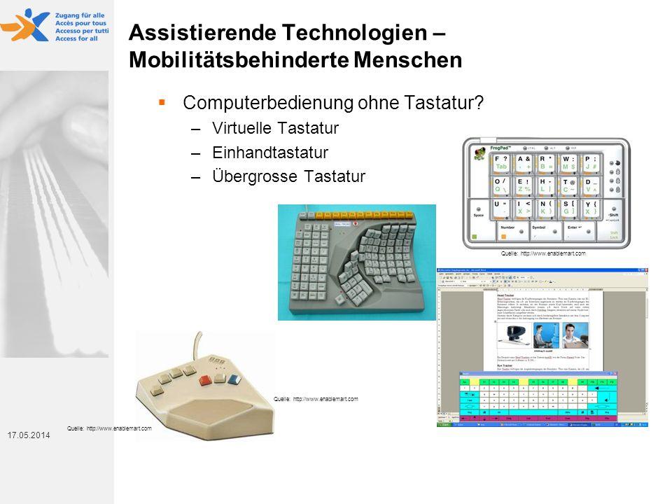 Assistierende Technologien – Mobilitätsbehinderte Menschen