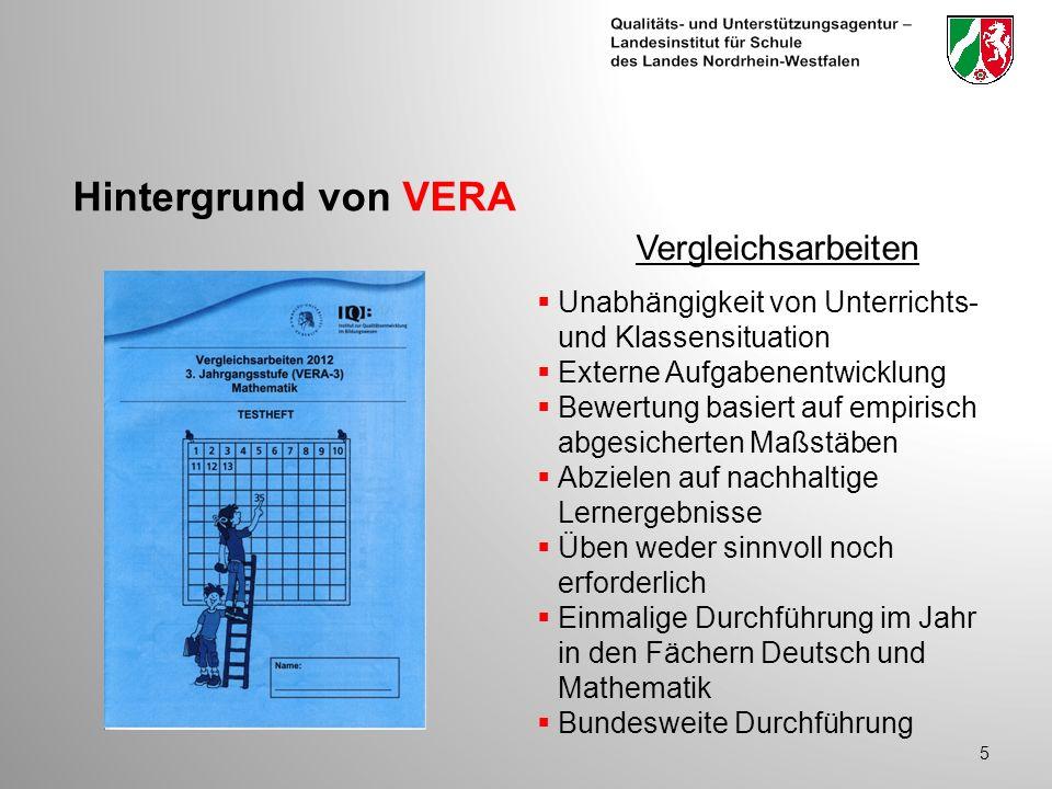 Hintergrund von VERA Vergleichsarbeiten