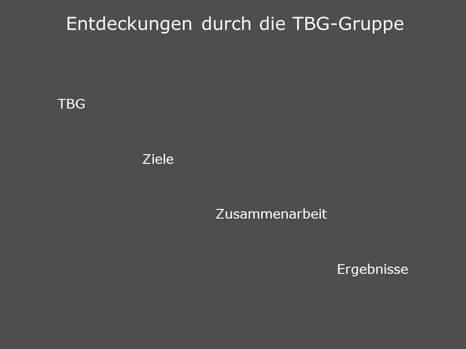 Entdeckungen durch die TBG-Gruppe