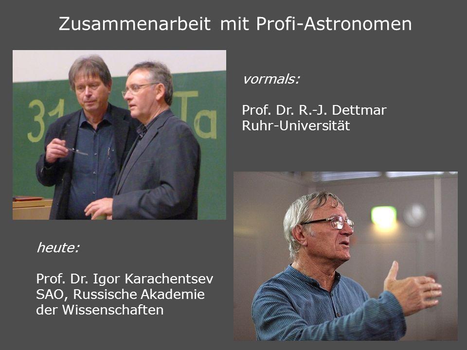 Zusammenarbeit mit Profi-Astronomen