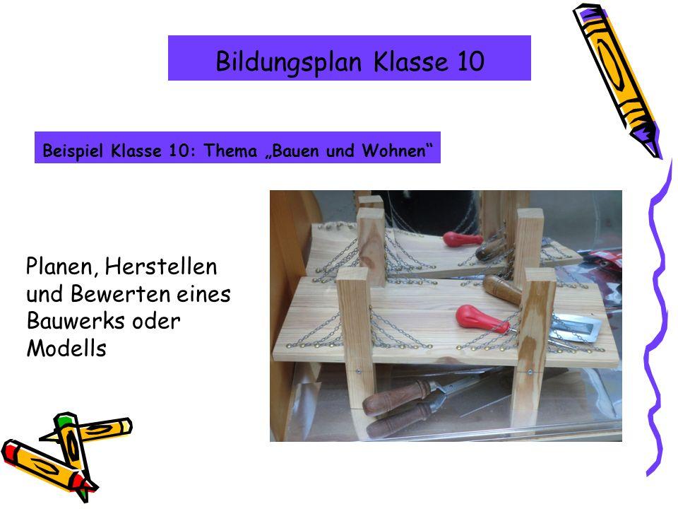 """Beispiel Klasse 10: Thema """"Bauen und Wohnen"""
