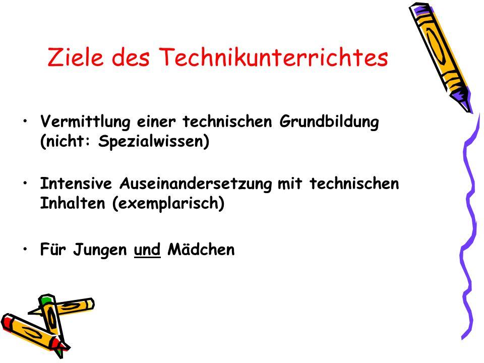 Ziele des Technikunterrichtes