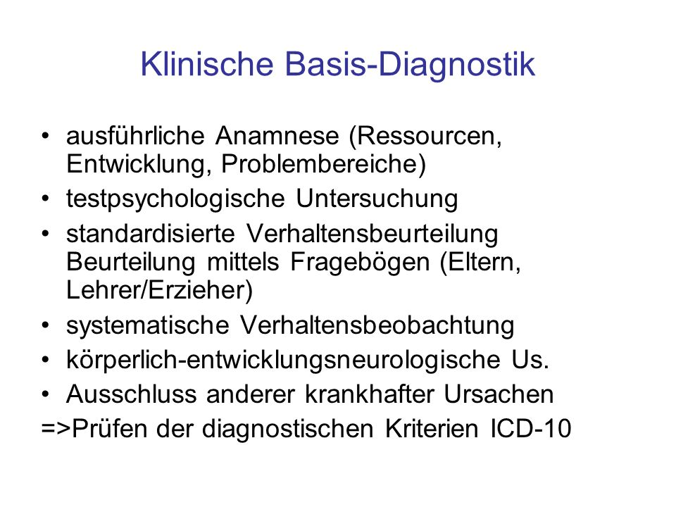 Klinische Basis-Diagnostik