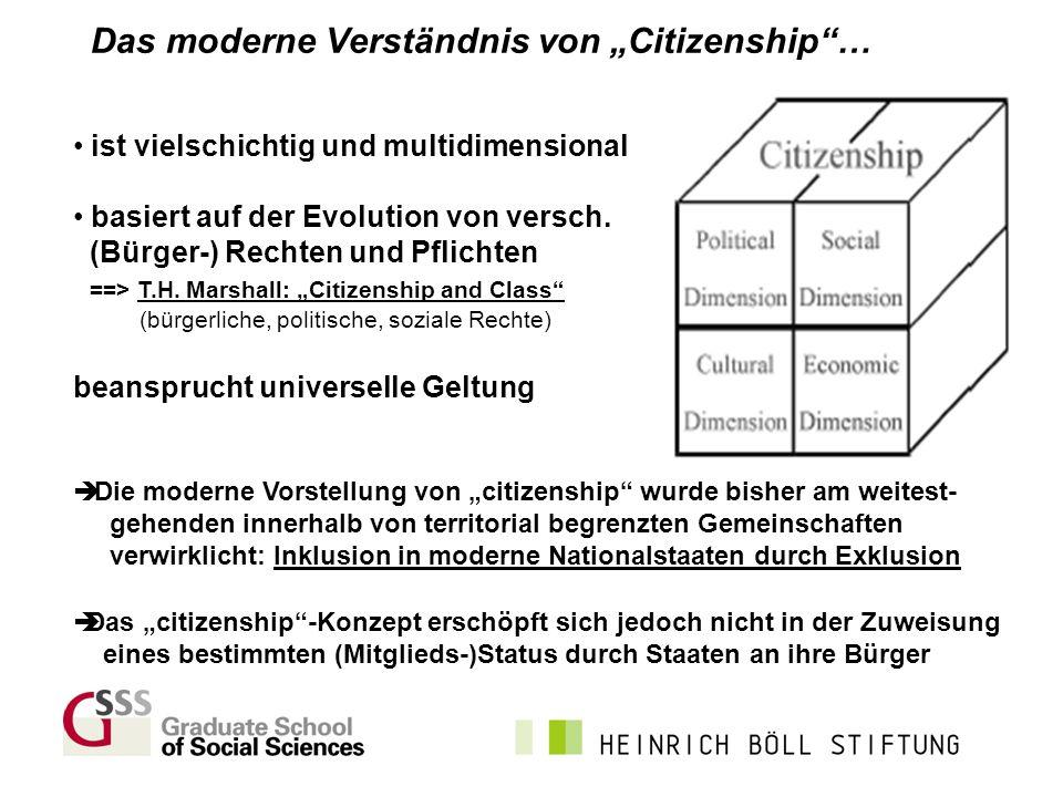 """Das moderne Verständnis von """"Citizenship …"""