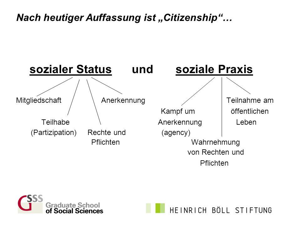 sozialer Status und soziale Praxis