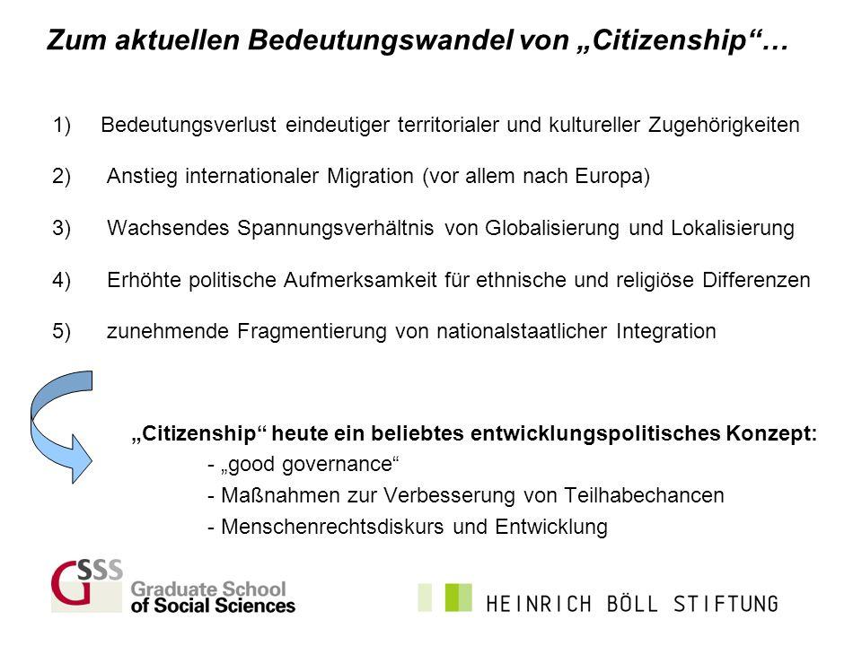 """Zum aktuellen Bedeutungswandel von """"Citizenship …"""