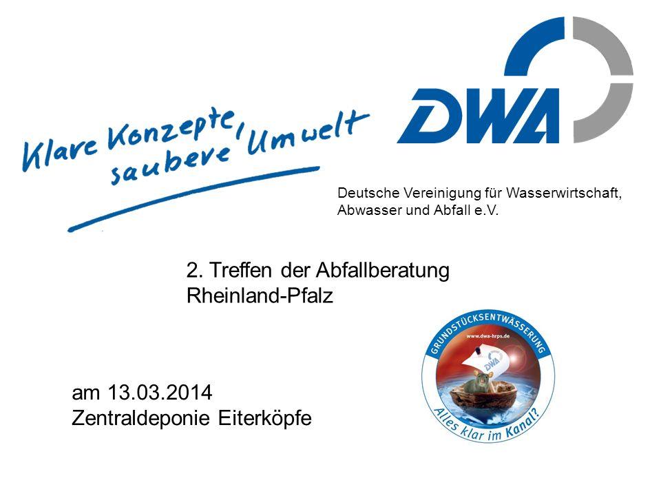 2. Treffen der Abfallberatung Rheinland-Pfalz