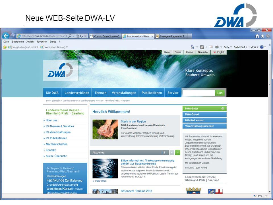 Neue WEB-Seite DWA-LV