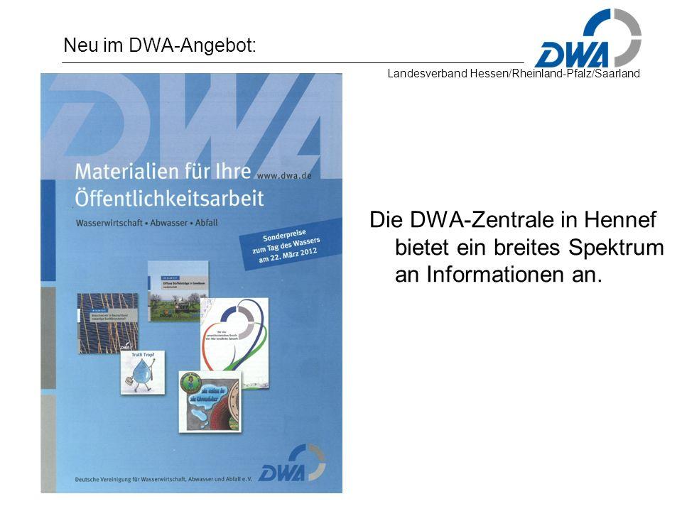 Neu im DWA-Angebot: Die DWA-Zentrale in Hennef bietet ein breites Spektrum an Informationen an.