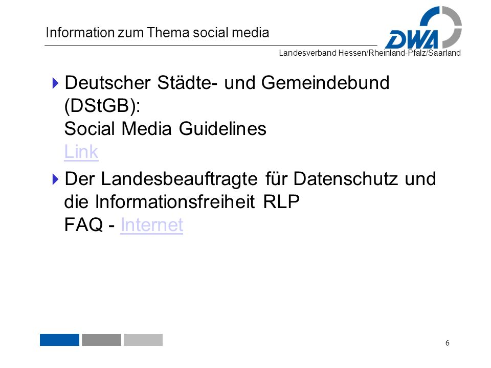 Information zum Thema social media