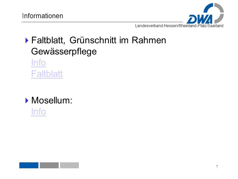 Faltblatt, Grünschnitt im Rahmen Gewässerpflege Info Faltblatt