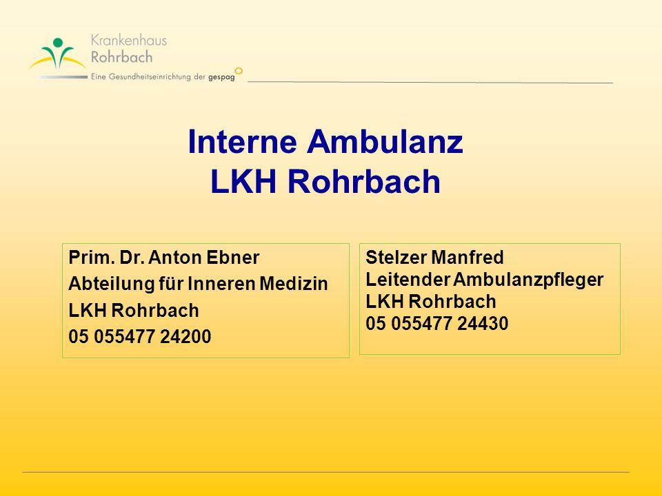 Interne Ambulanz LKH Rohrbach