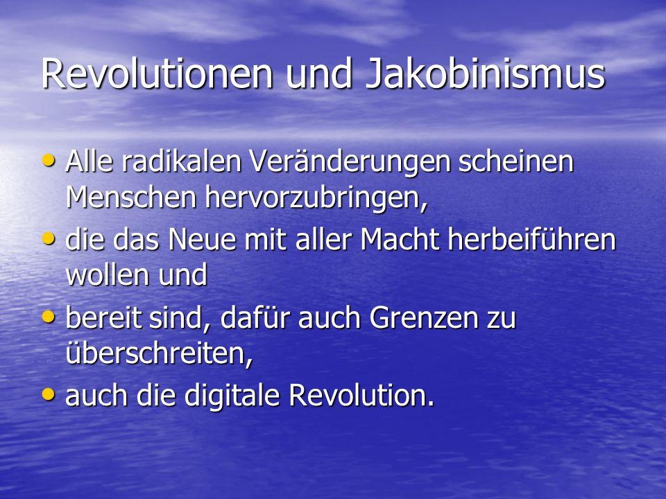 Revolutionen und Jakobinismus
