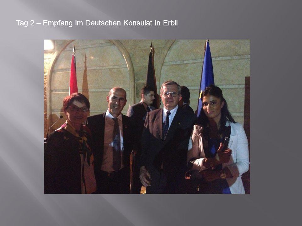 Tag 2 – Empfang im Deutschen Konsulat in Erbil