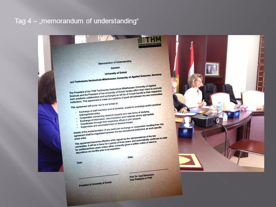 "Tag 4 – ""memorandum of understanding"