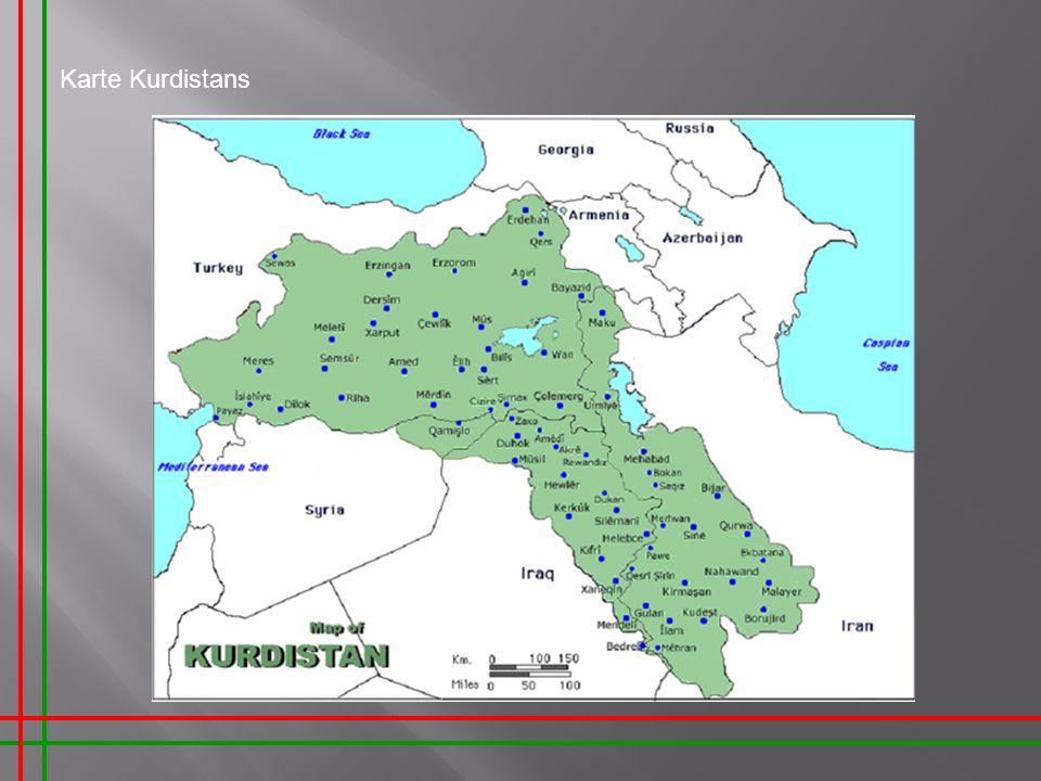 Karte Kurdistans Sehr geehrte Damen und Herren,