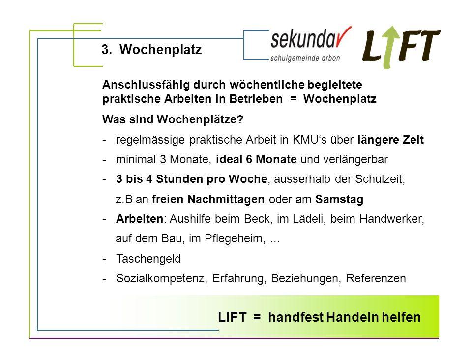 LIFT = handfest Handeln helfen