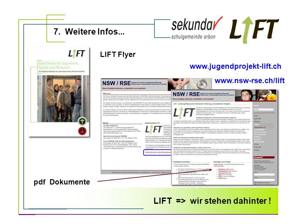 LIFT => wir stehen dahinter !