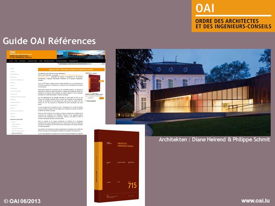 Guide OAI Références Architekten : Diane Heirend & Philippe Schmit
