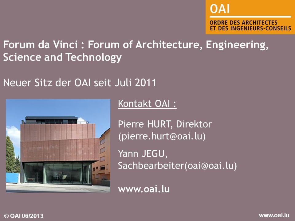Neuer Sitz der OAI seit Juli 2011
