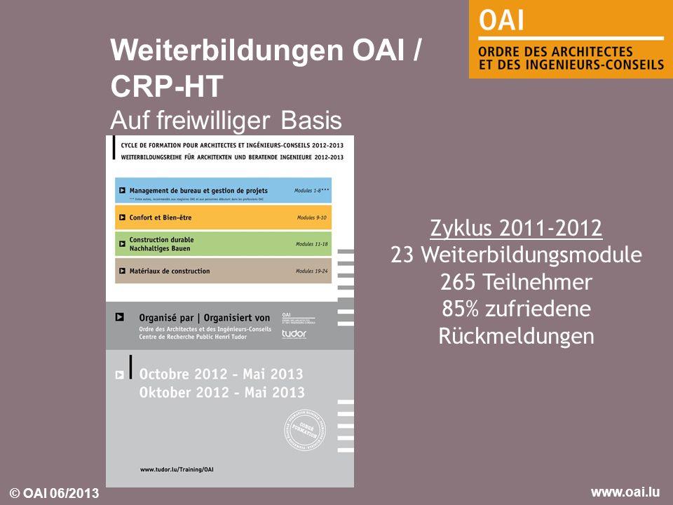 Weiterbildungen OAI / CRP-HT