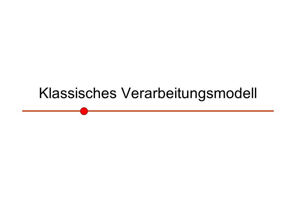 Klassisches Verarbeitungsmodell
