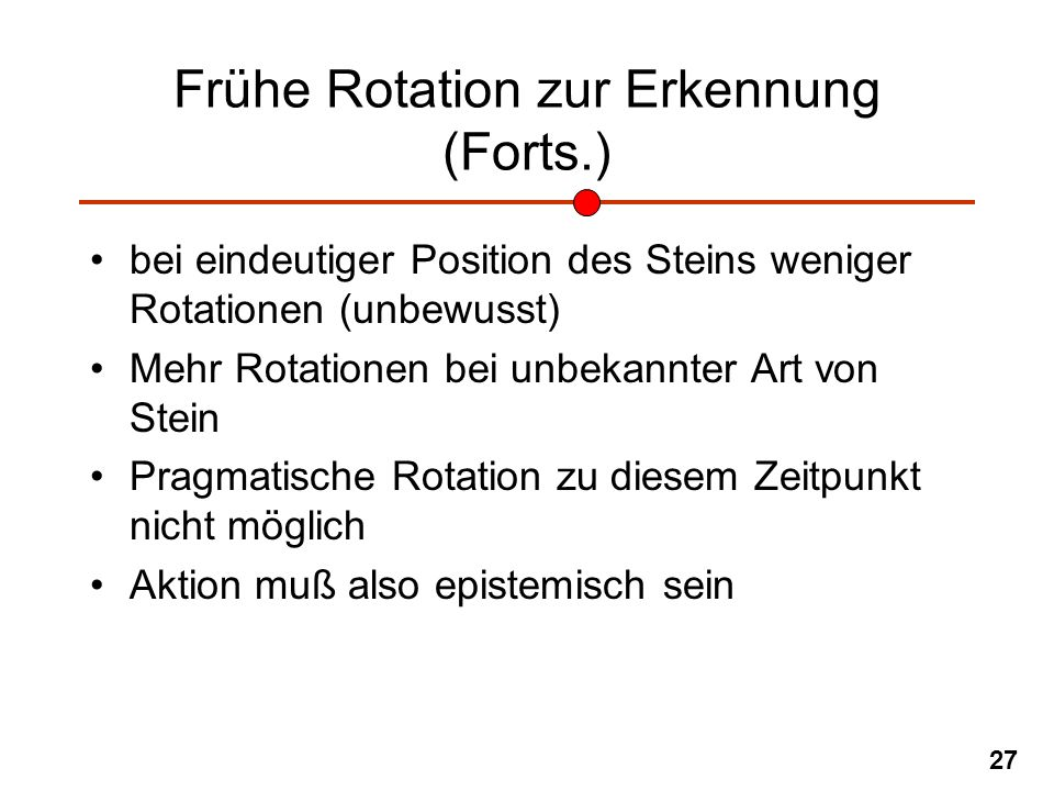 Frühe Rotation zur Erkennung (Forts.)