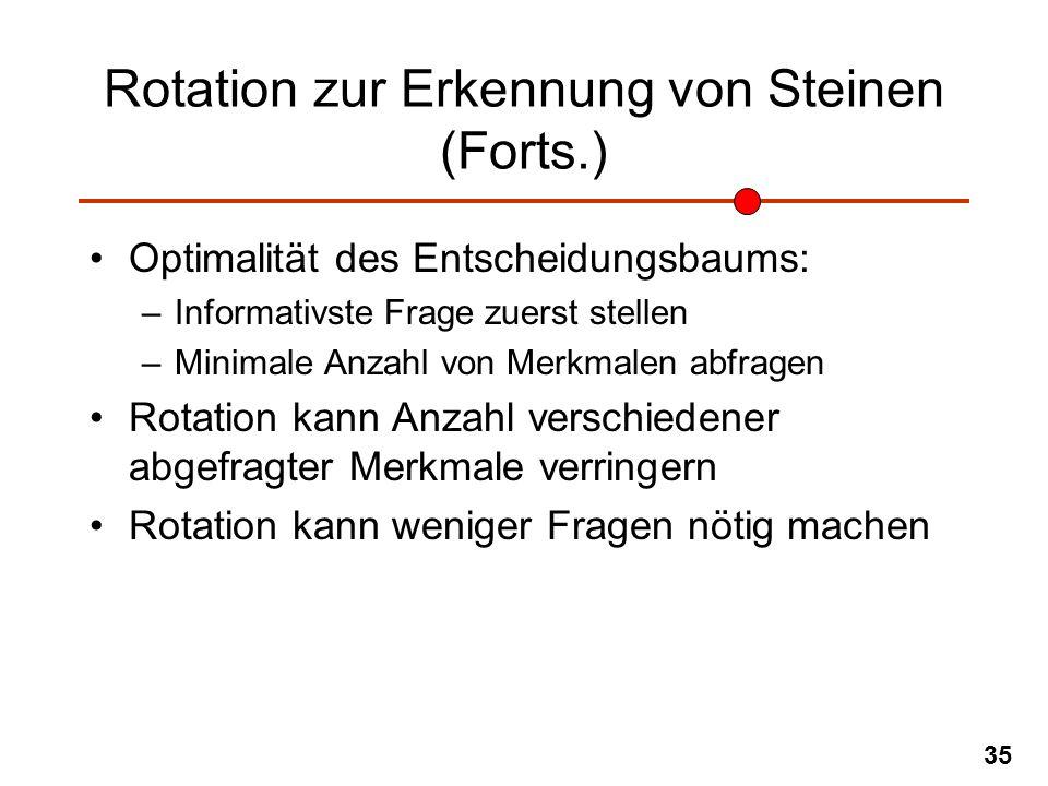Rotation zur Erkennung von Steinen (Forts.)