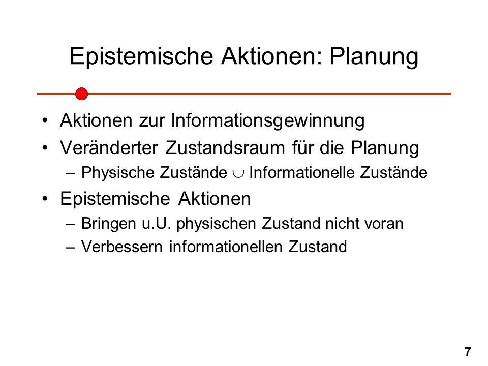 Epistemische Aktionen: Planung